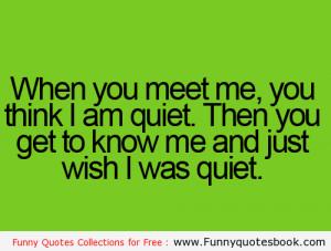 When you meet a Stranger – Funny quotes