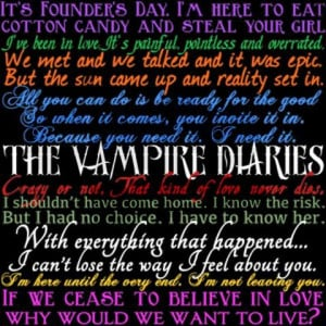 Vampire Diaries Quotes Pajamas on