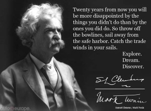 quote about travel from Mark Twain