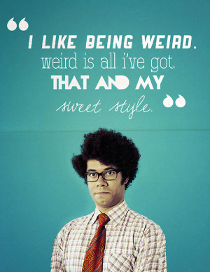 mine the it crowd type: graphic moss maurice moss are we not men ...