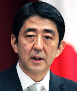 Japanese Pm Shinzo Abe, referring to his government's ongoing debate ...