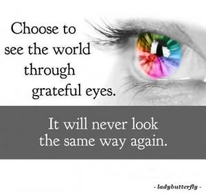 Grateful eyes