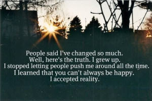 People said I ve changed quote
