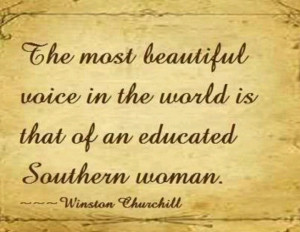 winston churchill's thoughts on Educated southern woman