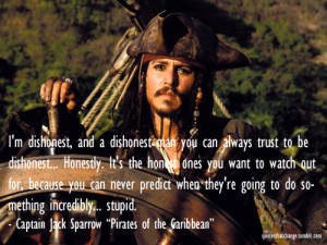 Pirates of the Caribbean #captain jack sparrow #dishonest #jack ...