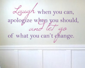 Laugh and Let Go Quote Vinyl Wall Decal - Children/Teen Vinyl Wall Art ...