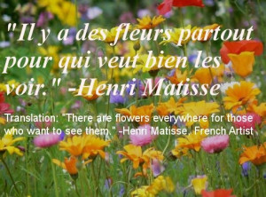 Inspirational French quote about optimism and having a good outlook on ...