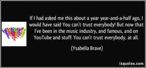 Famous Youtuber Quotes More ysabella brave quotes
