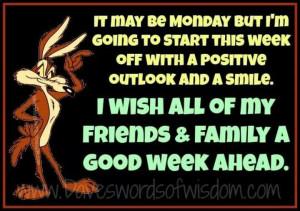 wish you a good week ahead