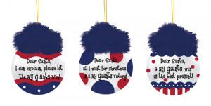 New York Giants Team Sayings Tree Ornaments