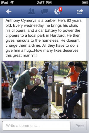Selfless acts of love and kindness