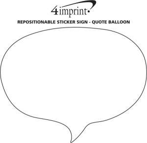 Repositionable Sticker Sign - Quote Balloon