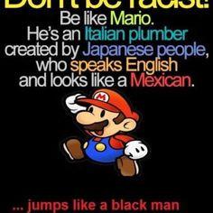 Mario represents cultural diversity.