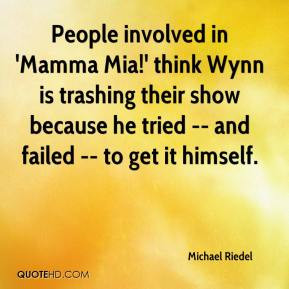 People involved in 'Mamma Mia!' think Wynn is trashing their show ...