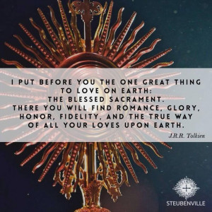 Tolkien quote on The Blessed Sacrament