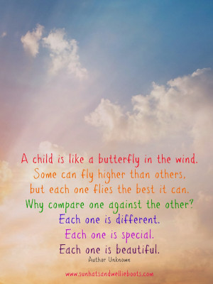 Child is like a Butterfly in the Wind