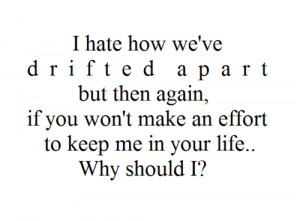 Quotes About Drifting Apart picture