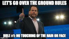 Image: Marc Benioff- Salesforce Quote: Ron Burgundy- Anchorman More