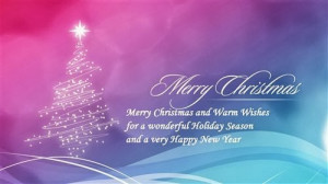 Merry Christmas And Warm Wishes For A Wonderful Holiday Season And A ...