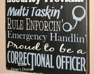 Correctional Officer Sign , CO Sign , Corrections Wall Decor ...