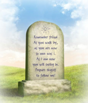 Epitaphs Memorial Verses about Life and Death
