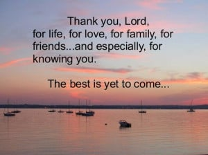 Thank You, Lord, for a wonderful day!