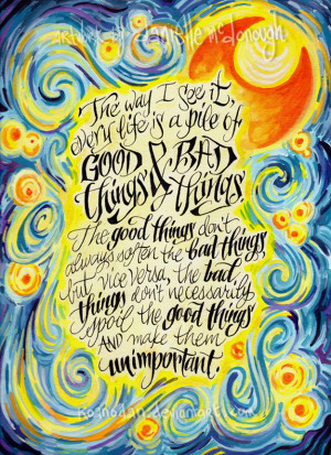 Doctor Who Van Gogh Quote Good things and bad things by