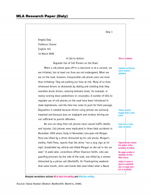 mla format for an essay heading