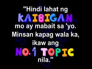 Tagalog Quotes Para SA Kaibigan