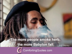 Famous Bob Marley Quote About Smoking Weed