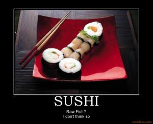 Motivational Poster Sushi