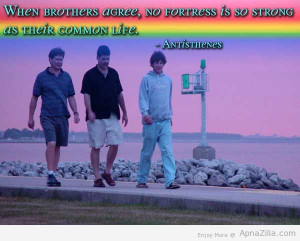 When Brothers Agree, No Fortress Is So Strong As Their Common Life ...