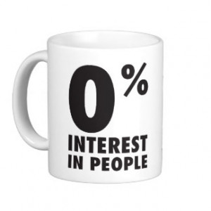 ... ... In People - Funny Anti-Social Shirt Classic White Coffee Mug
