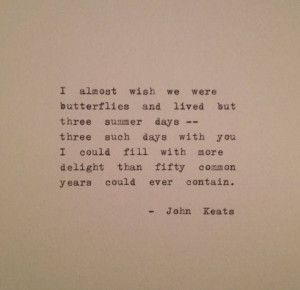 Lovely John Keats quote