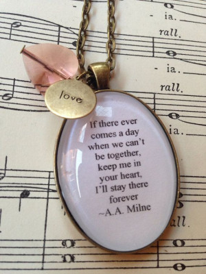 AA Milne Winnie the Pooh quote necklace by MummybirdPretties, £10.00