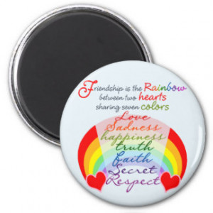 Friendship is the rainbow BFF Saying Design Fridge Magnets