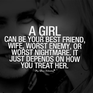 Love Quotes For Her - A girl can be your best friend