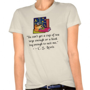 Tea & Books w Quote Ladies Fitted Organic T T Shirt