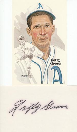 Lefty Grove Baseball Cards
