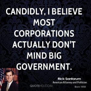 Rick Santorum Government Quotes