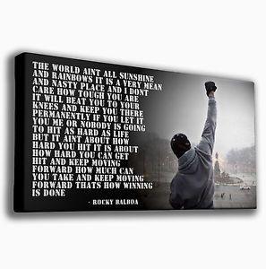 Rocky Balboa Quotes ROCKY BALBOA QUOTE BOXING PREMIUM LARGE GICLEE