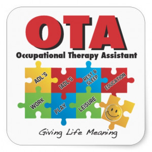 OTA - Occupational Therapy Assistant Sticker -COTA