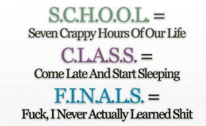 funny acronyms school class finals