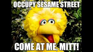 Big Bird Funny Occupy sesame street, big bird
