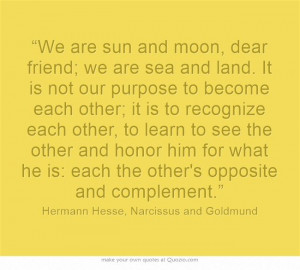 Narcissus and Goldmund / Hermann Hesse