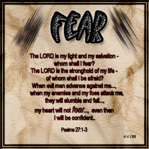 BIBLE VERSES ON FEAR