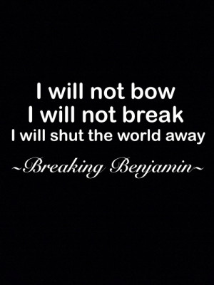 Breaking Benjamin ️
