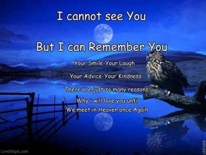 Missing You In Heaven Quotes Until we meet in heaven