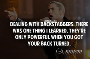 backstabber quotes eminem