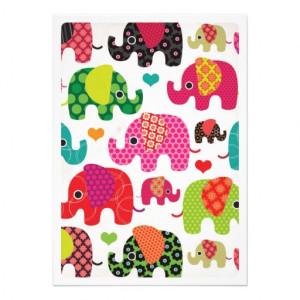 Cute elephant kids birthday party invitation from Zazzle.com